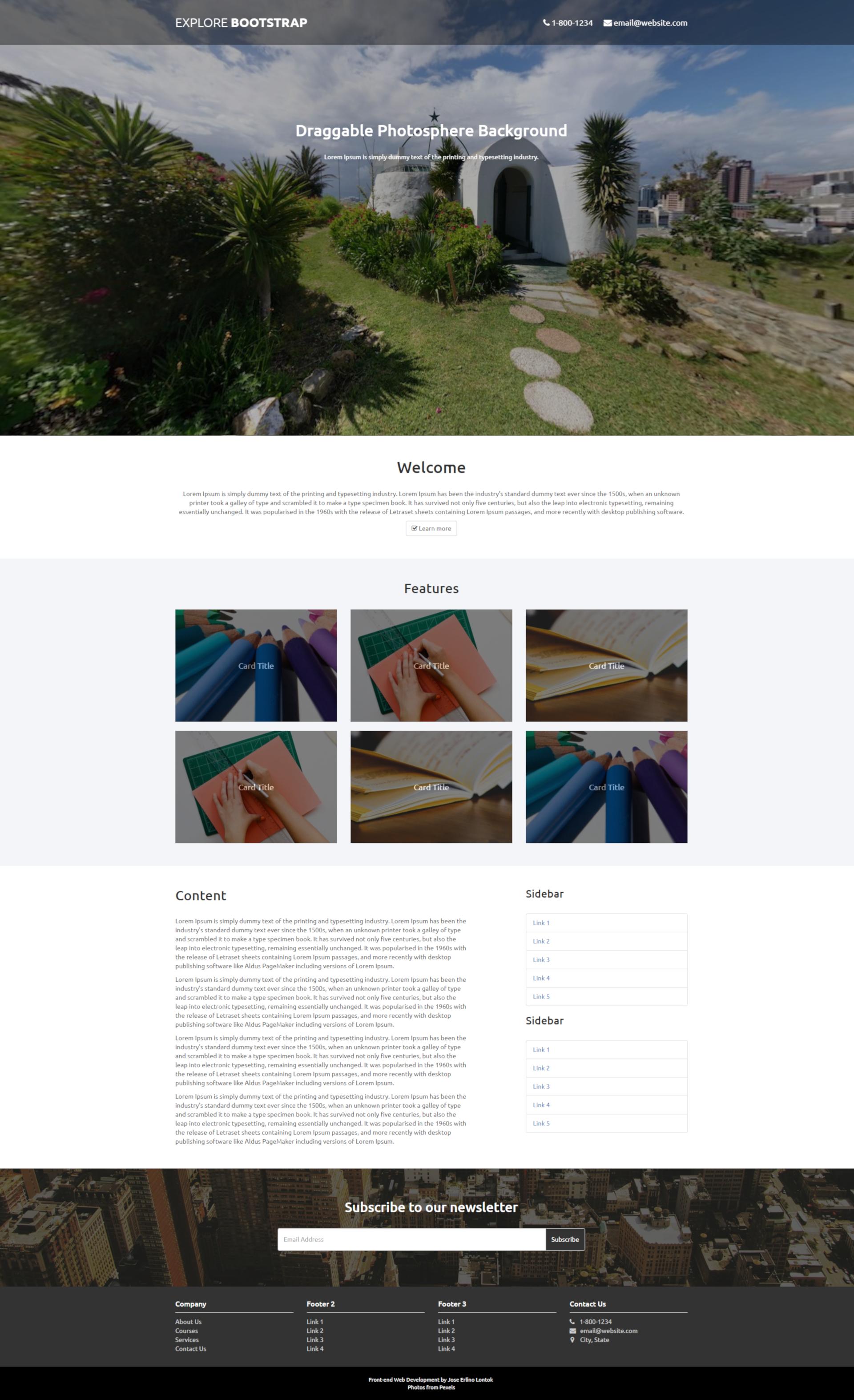 Explore Bootstrap - A Multi-Purpose Reponsive Bootstrap Template