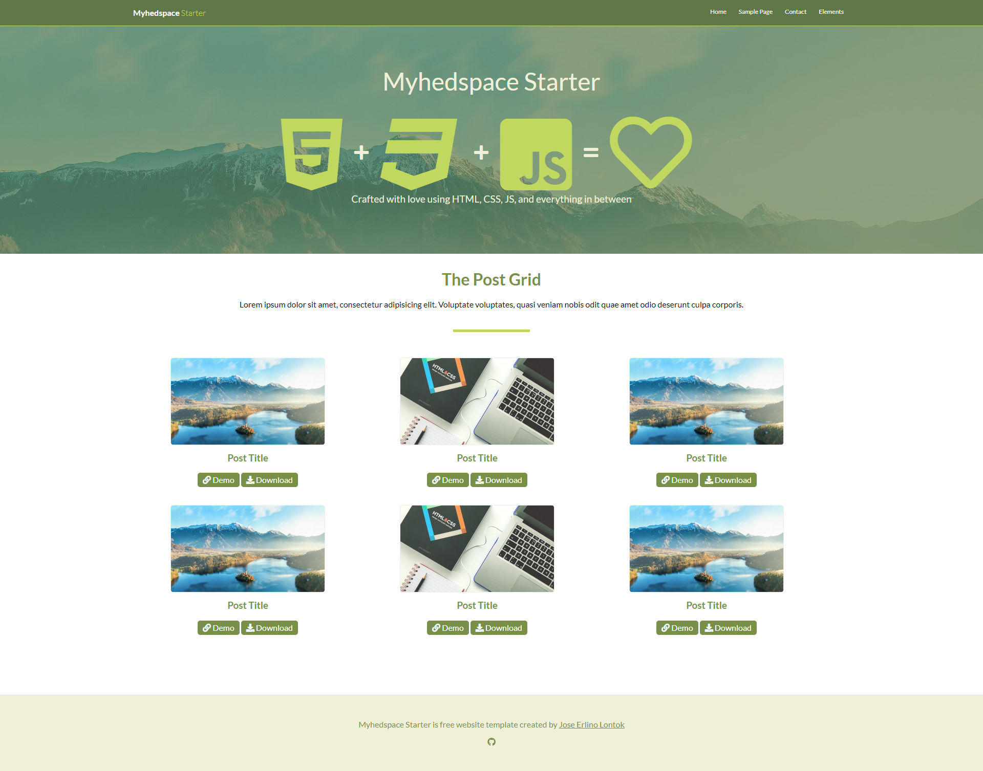 Myhedspace Starter - HTML starter template for new upcoming Myhedspace projects.